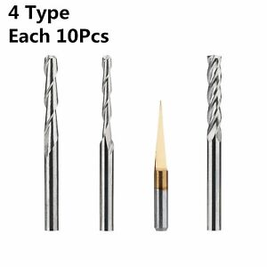 Hqmaster End Mill Combination Kit Set Cnc Router Bits Cutter Cutting Milling