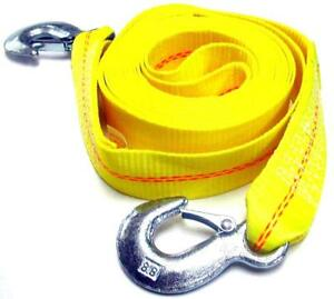 2 X 30 4 5 Ton 2 Inch X 30 Ft Polyester Tow Strap Rope 2 Hooks 10 000lb