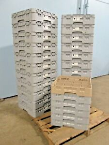 Lot Of 28 cambro Hd Commercial nsf Assorted Glass Cups Dishwasher Racks