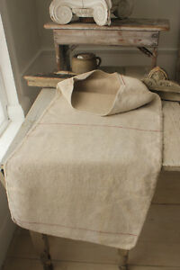 Grainsack Antique Hemp Grain Sack Linen Washed Heavy Twill Textile