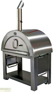 Xl Pizza Oven Outdoor Wood Fired Grill Stainless Steel Stone Brick Brush Kit New