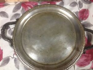 Vintage Wm Rogers Silver Co Butler Tray With Handles