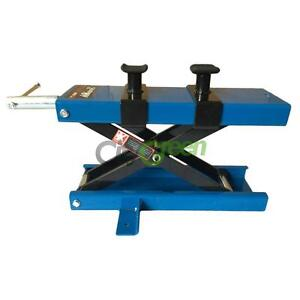 1100lb Scissor Lift Jack Atv Motorcycle Dirt Bike Scooter Crank Stand Blue