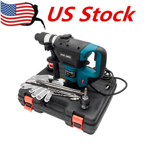 1 1 2 Sds Electric Rotary Hammer Drill 110v Concrete Tile Breaker Chisel Us