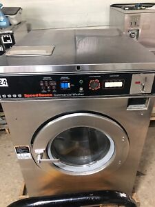 Speed Queen Commercial Front Load Washer Sc40md 3ph 40 Lbs Push Button
