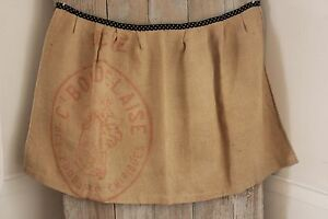 Apron Vintage French Work Wear Made From A Grain Sack Polka Dot Fabric Atwaist
