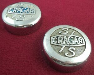 Cragar Wheels S s Chrome Metal Custom Wheel Center Caps Set Of 2
