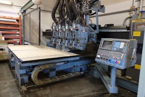 Heian Cnc Router Nc 432p 1616 Fanuc Controls 4 Spindle Heads 4 Drills