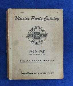 Vintage 1929 1951 Chevy Master Parts And Accessories Catalog Book Pickup Truck
