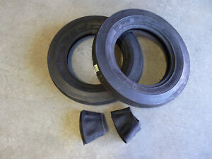 Two New 5 00 15 Bkt Tf 9090 Tri rib 3 Rib Front Tractor Tires With Tubes