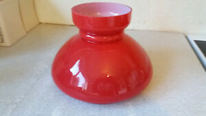 Large Vintage Red Glass Oil Globe Lamp Shade 9 1 2 X 6 1 2 Inch