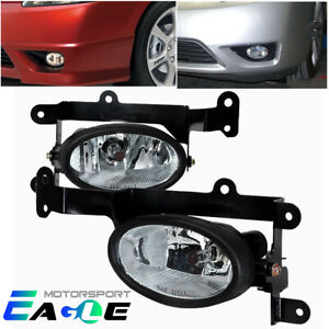 2006 2007 2008 Honda Civic 2dr Coupe Clear Fog Lights Lamps W Switch