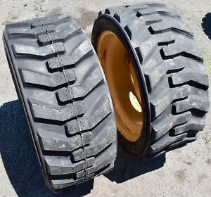 2 Count Titan Grizz Lsw Skid Steer Tires Rims 10 Ply 305 546