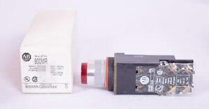 Allen Bradley Red Illuminated Push Button Switch 800mr qb24rak 800m xak