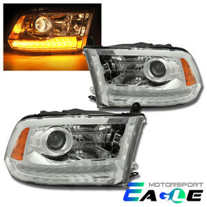 Fit 2009 2018 Dodge Ram 1500 2500 3500 Led Drl Projector Headlights Pair