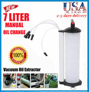 Vacuum Oil Fluid Extractor 7l Manual Fuel Petrol Syphon Pump Transfer Suction