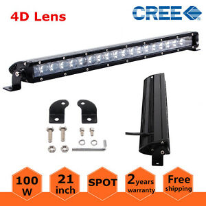 4d Slim Single Row 21inch 100w Led Light Bar Offroad Ford Cars Driving Boat 20