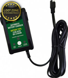 Battery Tender Junior High Efficiency Automatic Charger 800ma 12v Lead