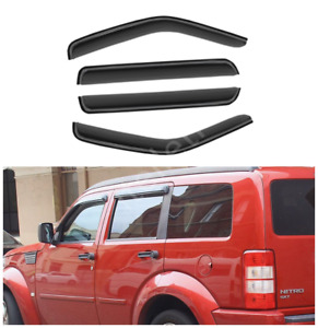 4pcs Outside Mount Smoke Sun Rain Guard Window Visors Fit 07 12 Dodge Nitro