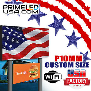 Led Sign P10 Dip Full Color Indoor outdoor Wifi Led 12 5 X 37 75