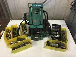 Synflex Coupling Swaging Hydraulic Hose Crimping Machine with Dies and Fittings