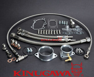 Kinugawa Oil Water Kit For Nissan Skyline R30 Dr30 Fj20et W Garrett Gt2860rs