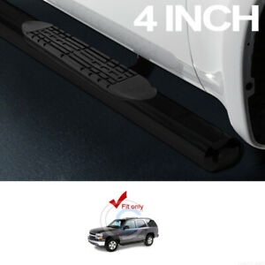 4 Oval Black Side Step Nerf Bars Running Boards 00 14 Chevy Tahoe 02 Escalade