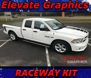 Dodge Ram 1500 Raceway Side And Hood Stripe Ram Graphics 3m Declas Vinyl Stripes