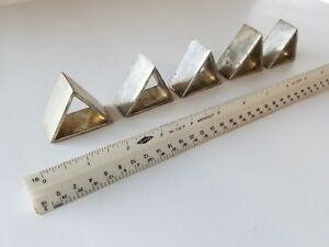 5 Vintage Silver Plated Triangle Napkin Ring Holder Art Deco Triforce Art Zelda