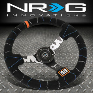Nrg Innovations Rst 036mb S Kmr 350mm 3 Deep Dish Suede Handle Steering Wheel