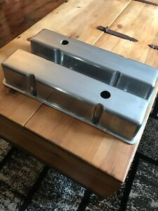 Billet Aluminum Sbc Chevy Tall Valve Covers Used