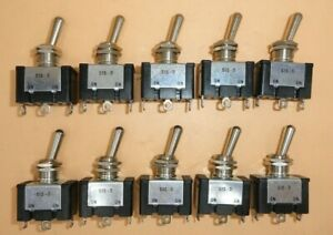 Spdt On on Toggle Switch 10a lot Of 10