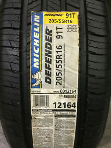 2 New 205 55 16 Michelin Defender Tires
