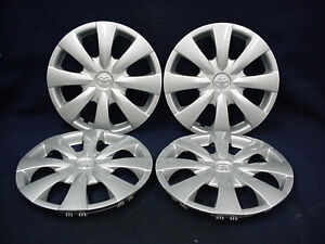 Toyota Corolla 09 13 15 8 Spoke Silver Wheel Covers Hubcaps Set Of 4 Oem