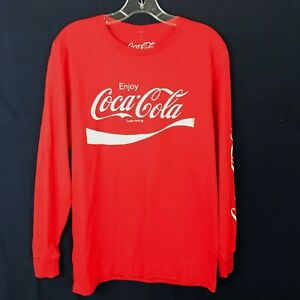 NWT Coca Cola Long Sleeve Graphic T-shirt Color Red Size S