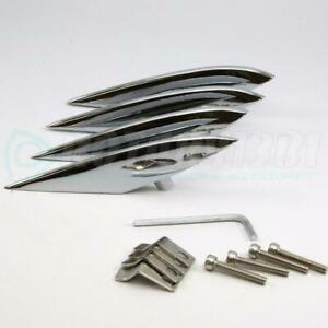 Mazda Rx 8 Fender Strakes Chrome Plated All Aluminum Accents Fins 4pcs Set