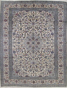 Large Traditional Floral Persian Oriental Hand Knotted 10x13 Wool Ivory Area Rug