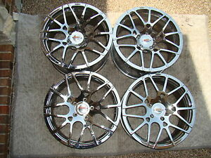Forgiato Mono Leggera 19 Chrome Wheel Set For Porsche 911 997 Wide