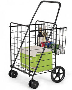 Jumbo Basket For Grocery Laundry Travel W Swivel Wheels