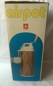 Everest Airpot 1 9l Hot Cold Coffee Tea Dispenser Wood Grain Pattern Box Japan