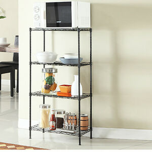 Modern Design 4 Layer Steel Rack Metal Shelf Adjustable Garage Kitchen Storage