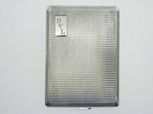 Vintage Silver Card Case 1932 Sprung Hinge Engine Turned 41 1 Grams
