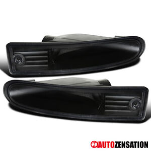 For 2000 2002 Mitsubishi Eclipse Black Bumper Lights Turn Signal Lamps Pair