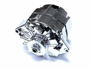 86 Earlier Gm 110 Amp Chrome Single 1 One Wire High Output Alternator Chevy Ford