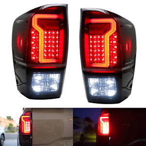 Full Taillight Lamps W led Reverse Light Replacement Bulbs Kit For 16 19 Tacoma