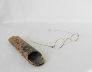 Antque Spectacles Victorian 9k Solid Yellow Gold Eyeglasses 1850 80 From England