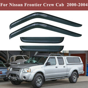 Window Visors Vent Shield For Nissan Frontier Crew Cab 2000 2001 2002 2003 2004