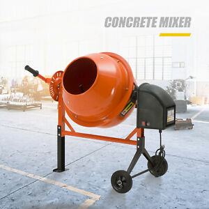 Electric 2 1 5 Cuft Portable Concrete Cement Mixer Barrow Machine Mixing Mortar