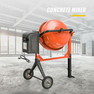 4 1 5 Cuft Concrete Cement Mixer Barrow Machine Portable Electric Mixing Mortar