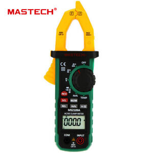 Mastech Ms2109a Auto Range Digital Ac dc Clamp Meter 600a Temp Ncv Rc Multimeter